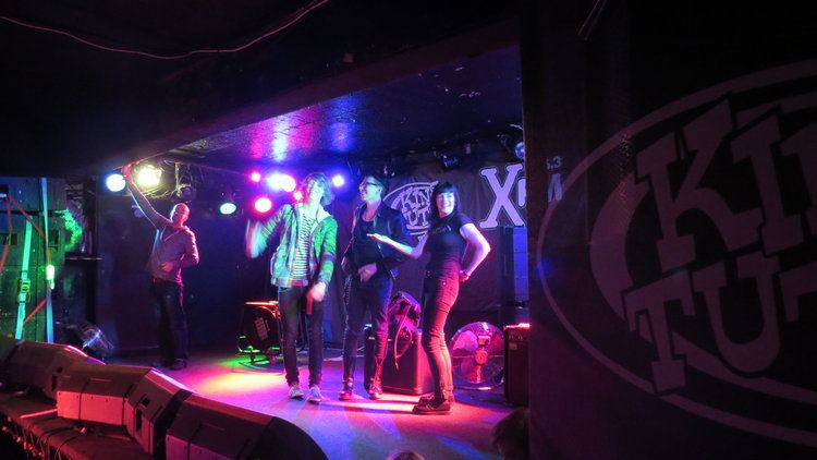 Standing on the stage at King Tut's is always a popular part of the Glasgow's Music Mile tour.