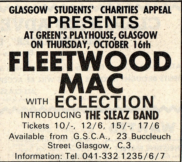 Ad for Fleetwood Mac Concert 1969a